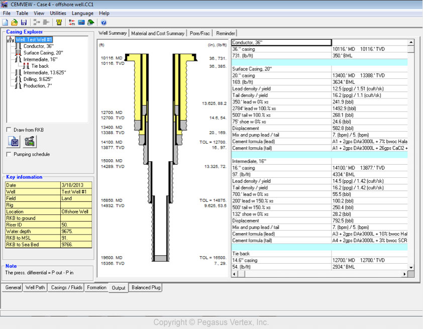 CEMVIEW - Wellbore Schematic